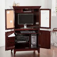 Hideaway Computer Desk Cabinet Cabinets Adorable Stunning Wicker Baskets Hideaway Computer Desks