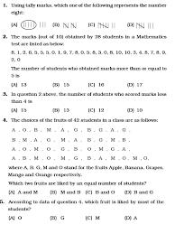 class 6 important questions for maths u2013 data handling aglasem