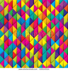 colorful ribbon seamless colorful paper ribbon triangles imitation stock