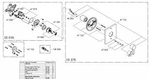 Grohe Kitchen Faucets Replacement Parts Kitchen Grohe 19 376 Pressure Balancing Valve Replacement Parts
