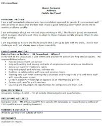 hr consultant cv example u2013 cover letters and cv examples