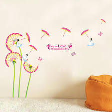 Wall Art Quotes Stickers Hot Sale Diy Pink Flower Butterfly Fairy Wall Art Decal Sticker