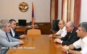 am agement d un bureau artsakh president receives arf d representatives hayern aysor