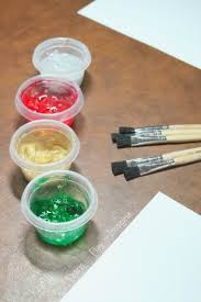 homemade paint recipe christmas confetti paint learn play imagine