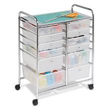 cassetti metallo honey can do crt 01683 carrello scorrevole a 12 cassetti metallo