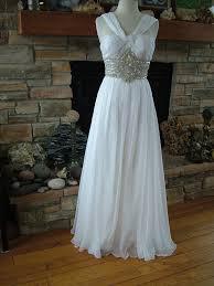 wedding dresses goddess style wedding dress chiffon 60 s style goddess gown rhinestone encrusted