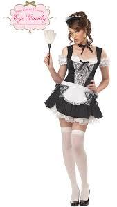 Maid Halloween Costumes French Kiss Maid Eye Candy Costume Ebay