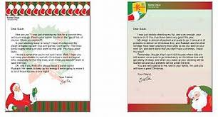 letters from santa printable letters from santa claus freebies canada usa