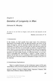 genetics of longevity in man springer