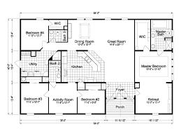 Modular House Floor Plans Redwood Tl40563a Manufactured Home Floor Plan Or Modular Floor Plans