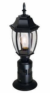 black outdoor lighting fixtures heath zenith sl 4392 bk 360 degree motion activated decorative