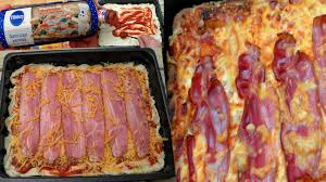 how to make delicious bacon pizza with pillsbury dough youtube
