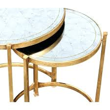 cube mirror side table target round brass mirror frann co