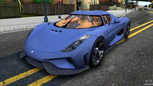 light blue koenigsegg koenigsegg regera 2015 for gta san andreas