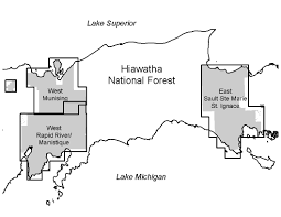 Michigan Orv Trail Maps by Hiawatha National Forest Maps