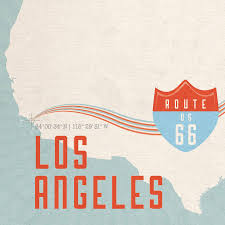 Route 66 Map by Personalised Route 66 Map Print By Maps International