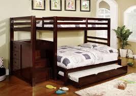 Furniture Of America CMBKF Pine Ridge Dark Walnut Step Twin - Trundle bunk beds