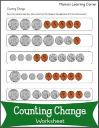 counting change worksheets counting money worksheets and change