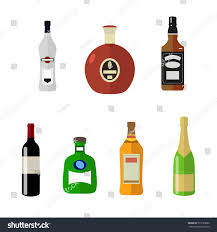 wine bottle emoji set alcohol bottles flat style isolated stock vector 573120880
