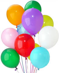 inflated helium balloons delivered balloons