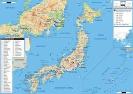 Maps Of The World Com by Map Of Japan With Town And Scale In Miles And Km Description From