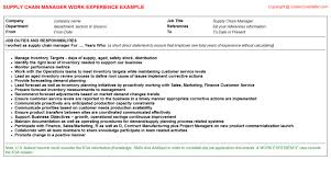supply chain manager job title docs