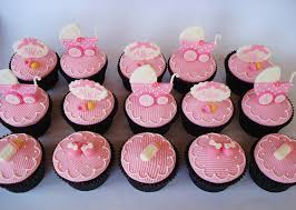 cupcakes for baby shower girl pink baby buggy shower cupcakes