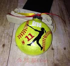 vinyl sports ornament glitter ornament personalized
