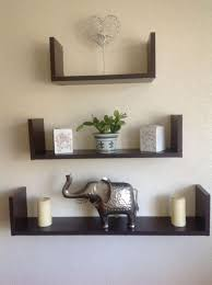 furniture simple wall mounted 3 tier cool walnut shelving units