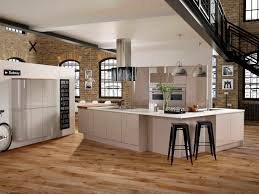 Rustic Modern Kitchen by New York Cashmere Grey Beautifully On Trend This High Gloss