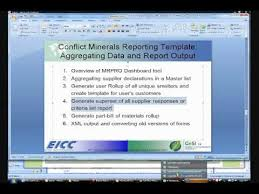 conflict minerals reporting template eicc gesi mrpro dashboard