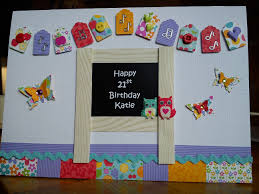 handmade personalised 21st birthday card for teacher arts n