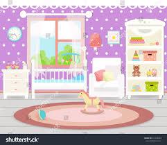 baby room interior flat design baby stock vector 613338479