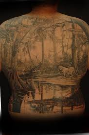 8th day tattoo swamp back piece