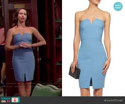 wornontv ivy u0027s blue strapless dress on the bold and the beautiful
