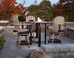 Patio Bar Table Patio Pub Table Set Amish Poly Outdoor Dining Set From