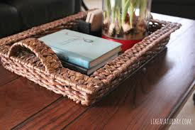 transform wood coffee table tray with additional interior home