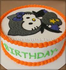Happy Birthday Halloween Pictures Halloween Hello Kitty Cake Sarah U0027s Sweets U0026 Treats