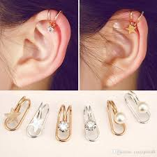 cartilage cuff earrings non piercing silver gold plated cartilage ear cuff earrings wrap