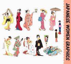 japanese women clip art graphics traditional japan clipart