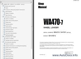 komatsu wa470 7 wheel loader usa shop manual pdf