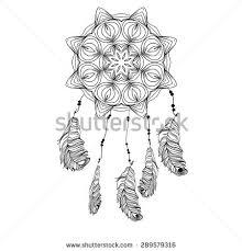 indian dream catcher sketch style vector stock vector 289557617