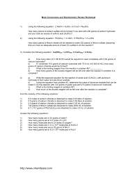 Stoichiometry Practice Worksheet Answer Key Stoichiometry Practice Worksheet