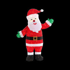 animated santa 48 in pre lit tinsel animated santa ty107 1414 0 the home depot