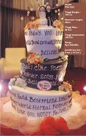 wedding cake jakarta harga wedding cake 3 tiers by pelangi cake bridestory