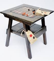 Outdoor Checker Table Made From Backgammon Checkers Table Outdoor Wood Furniture