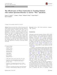 the effectiveness of direct instruction in teaching students with