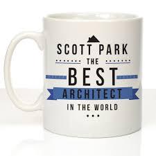 personalised world u0026 039 s best architect mug new job promotion