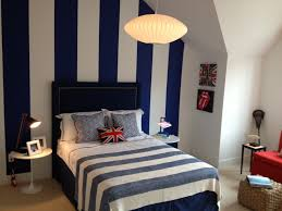 Feature Walls In Bedrooms Boys Bedroom Loving Navy And White And The Stripes Baby 3