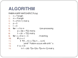 pattern matching algorithm in data structure using c string matching algorithms